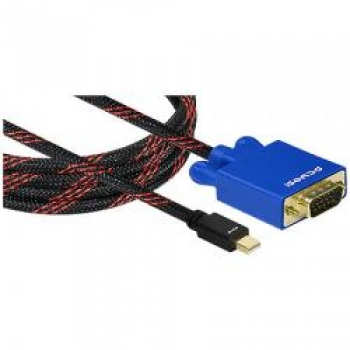 Cabo Mini Display Port x VGA em Nylon Coral 2M 19278 - Pcyes