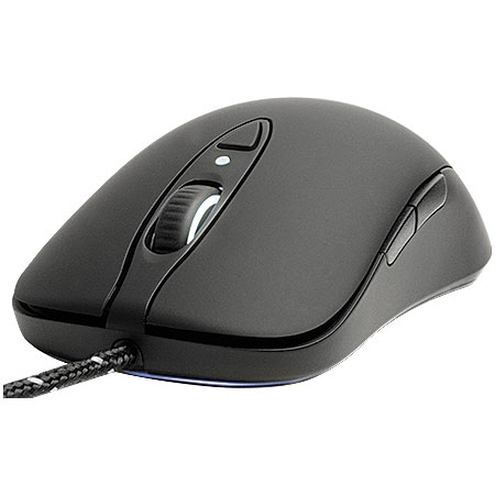 Mouse Gaming Laser Sensei Raw Preto Emborrachado 62155 - SteelSeries