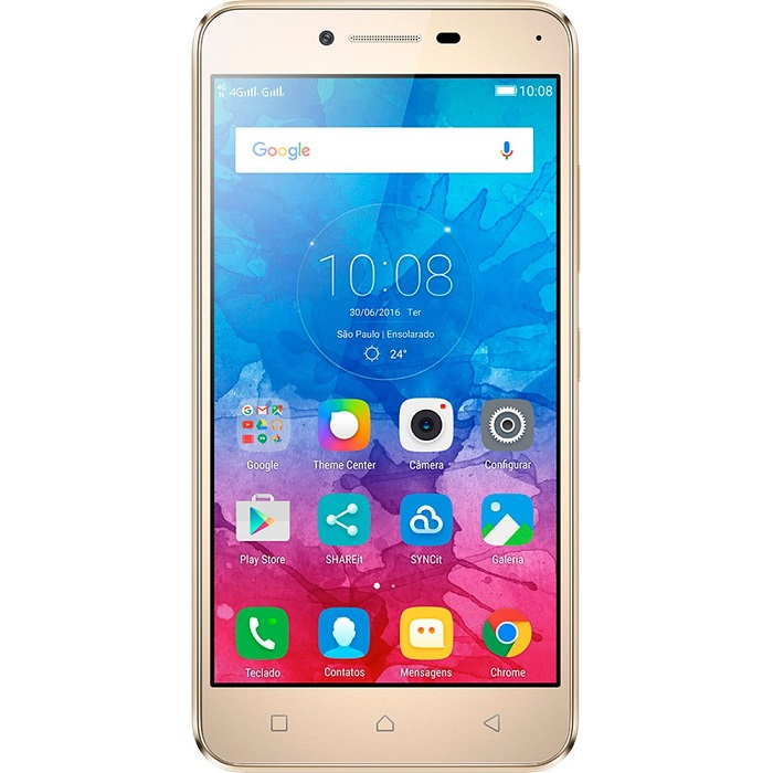 Smartphone Vibe K5, Octa Core , Android 5.1, Tela Full HD 5, 13MP, 16GB, 4G, Dual Chip, Dourado - Lenovo