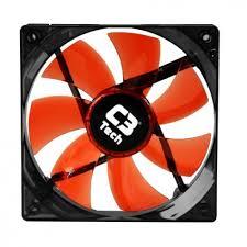 Cooler para Gabinete F7-100RD STORM 3 Pinos 12x12x2,5 cm Led Vermelho - C3 Tech