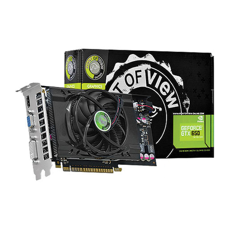 Placa de Vídeo Geforce GTX650 1GB DDR5 128Bits VGA-650-C1-1024 - Point of View