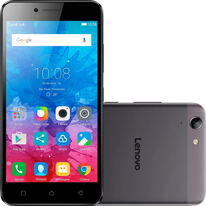 Smartphone Vibe K5, Octa Core , Android 5.1, Tela Full HD 5, 13MP, 16GB, 4G, Dual Chip, Grafite - Lenovo