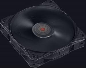 Cooler para Gabinete Fury F4 120mm Preto F4120PT - Pcyes