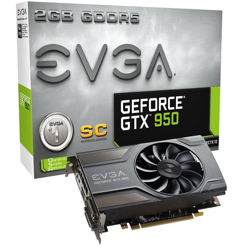 Placa de Vìdeo Geforce GTX950 LP 2GB SC DDR5 02G-P4-0958-KR - EVGA