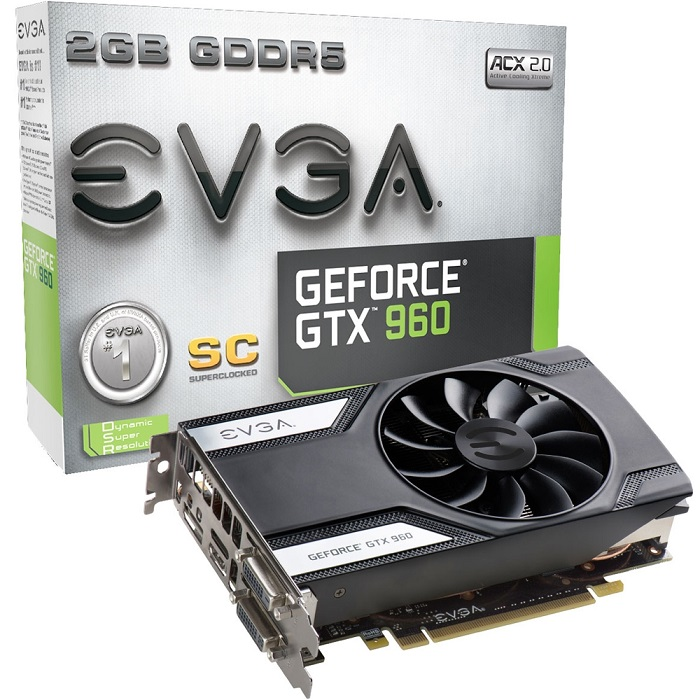 Placa de Vídeo Geforce GTX960 2GB SC DDR5 128Bits 02G-P4-2962-KR - EVGA