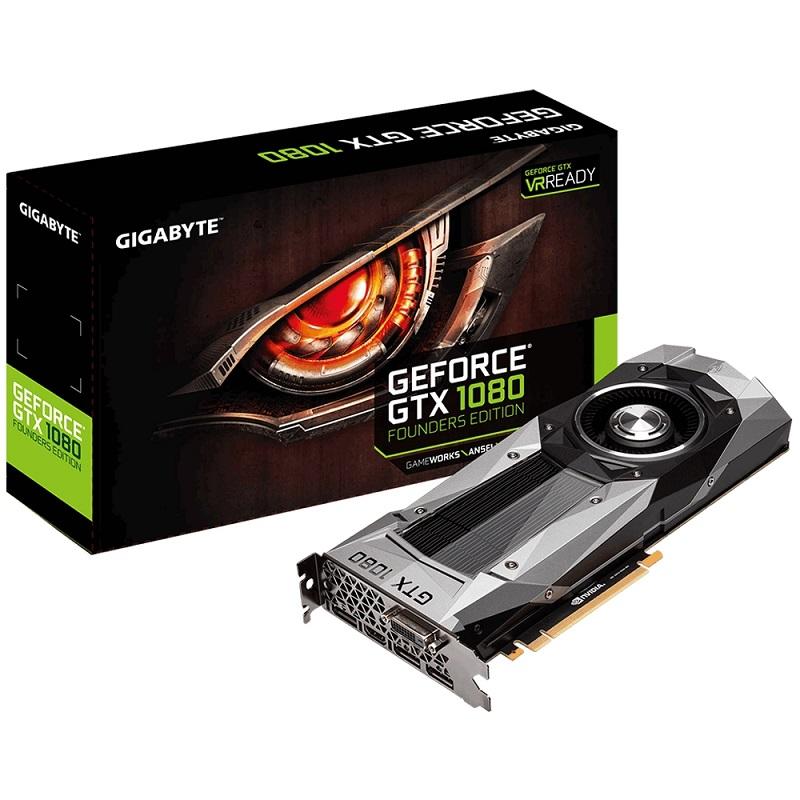 Pr�-Venda Placa de V�deo Geforce GTX 1080 Founders Edition 8GB GDDR5X 256Bits PCI-E 3.0 GV-N1080D5X-8GD-B - Gigabyte