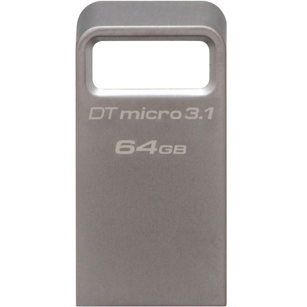 Pen Drive DataTraveler USB 3.0 Micro 3.1 64GB DTMC3/64GB Prata Metálico - Kingston