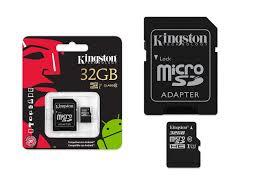 Cart�o de Mem�ria Micro SD 32GB KC-C3032-4V1 Classe 10 - Kingston