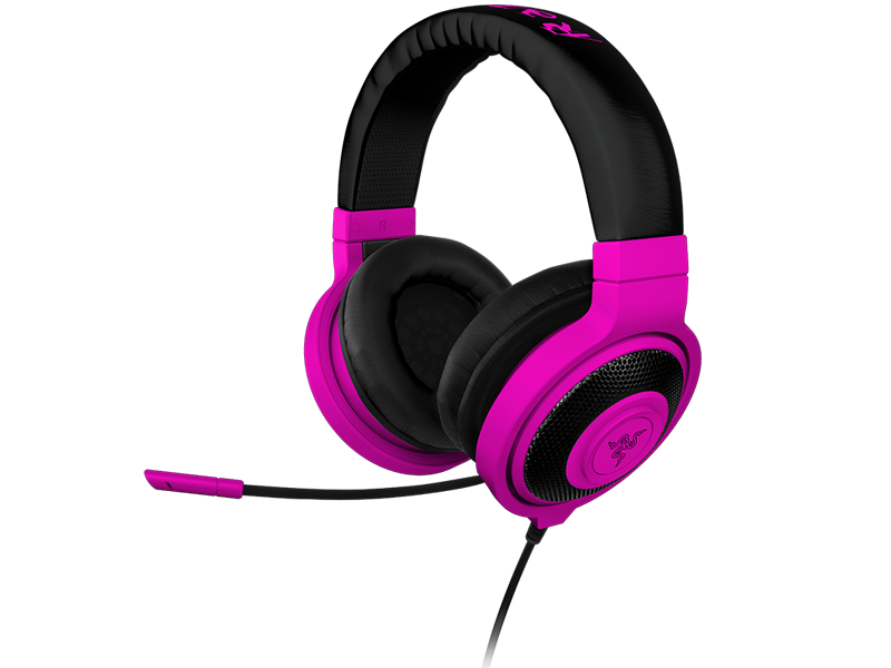 Fone de Ouvido com Microfone Kraken Pro Neon Roxo RZ04-00871300-R3M1 - Razer