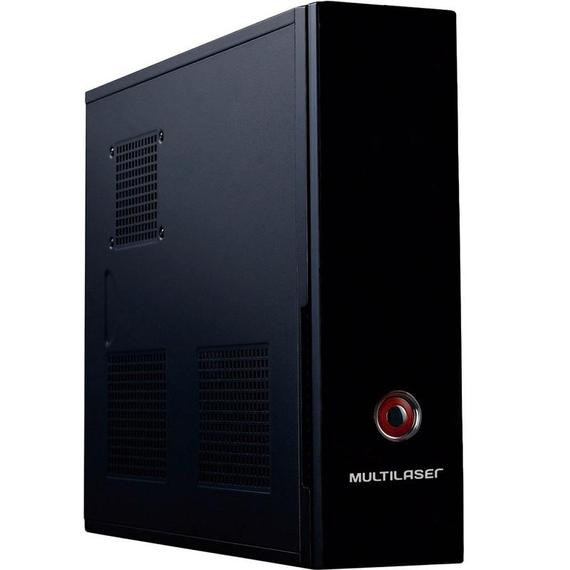 Gabinete Slim com Fonte ATX 200W Preto GA127 - Multilaser