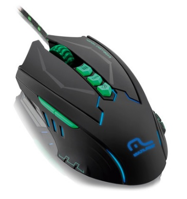 Mouse Gamer Metal War 8 Botões 2500dpi USB com LED MO218 - Multilaser