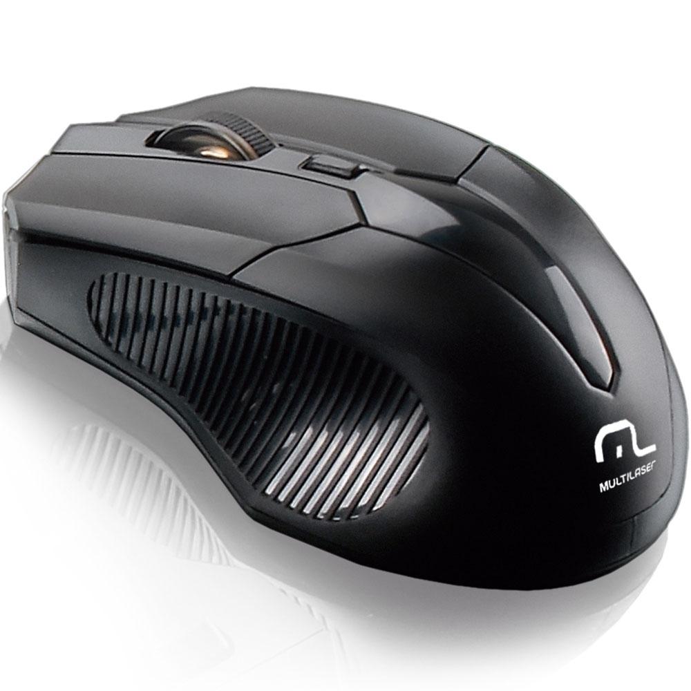 Mouse Sem Fio 2.4Ghz 1600dpi Black MO221 - Multilaser
