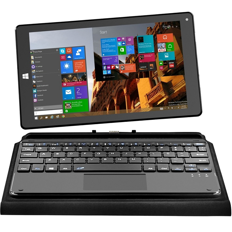 Tablet M8W 2x1 Preto, Intel BYT Quad Core, Windows 10, Dual Câmera, Tela 8,9, Wi-Fi, Bluetooth, 16GB NB193 - Multilaser
