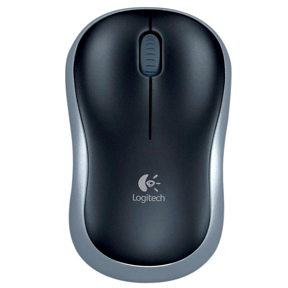 Mouse Logitech Wireless Óptico M185 Cinza - Logitech