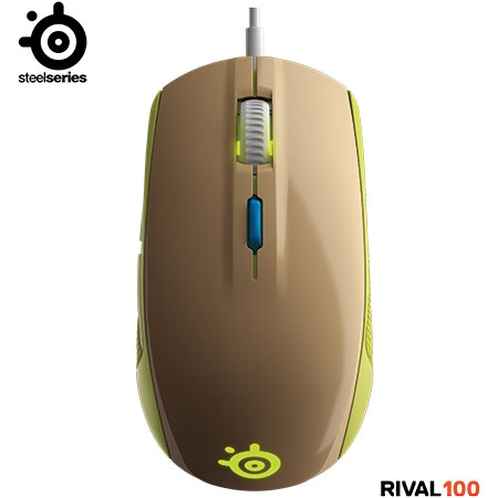 Mouse Gamer �ptico Rival 100 Gaia Green 62339 - SteelSeries