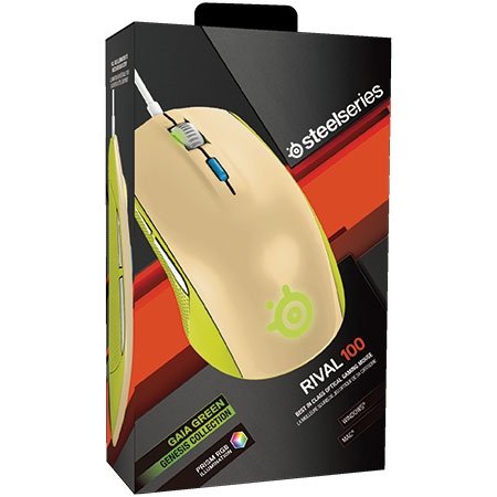 Mouse Gamer Óptico Rival 100 Gaia Green 62339 - SteelSeries