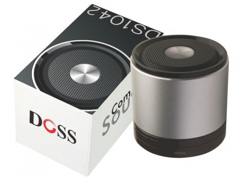 Caixa de Som DS-1042 Compacta 3W RMS Bluetooth Bateria Li-on Recarregavel - Doss