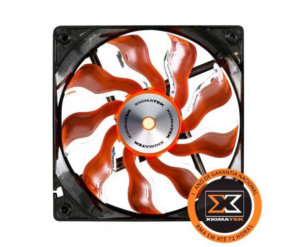 Cooler para Gabinete 120mm XAF-F1253 Laranja/Branco - Xigmatek