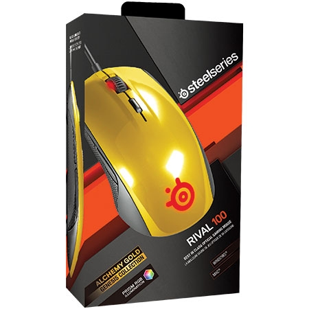 Mouse Gamer Óptico Rival 100 Alchemy Gold 62336 - SteelSeries