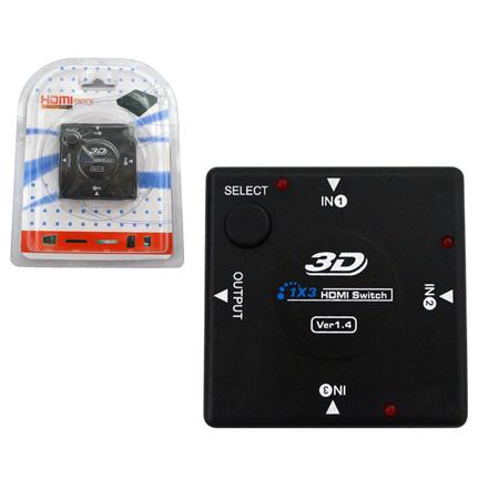 Switch HDMI 3 Portas HUB8 - -