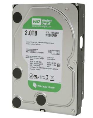 Hard Disk 2TB Green Caviar Sata III 3,5 7200RPM WD20EARX - Western Digital