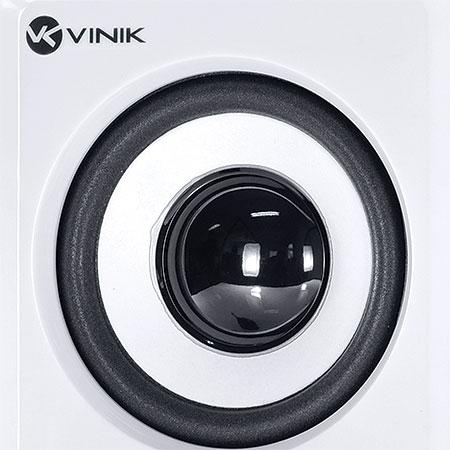 Caixa de Som 2.1 6W RMS VS217 Branco/Preto - VINIK