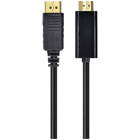 Cabo HDMI Macho x Displayport Macho 1.4v 2 Metros 19 Pinos HDP-2 23536 - VINIK