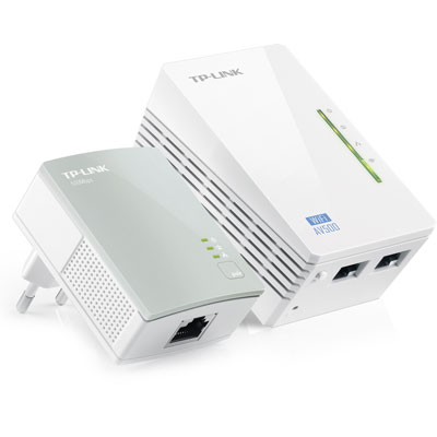 Extensor de Alcance WiFi Powerline 300Mbps AV 500Mbps TL-WPA4220KIT - Tplink