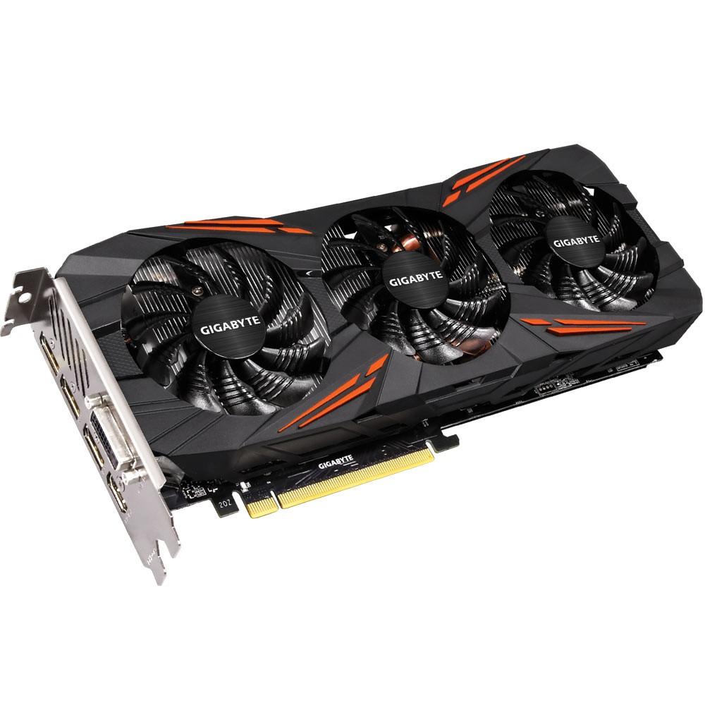 Placa de Vídeo Nvidia GTX 1080 8GB 256Bits GDDR5 GV-N1080G1 GAMING-8GD - Gigabyte