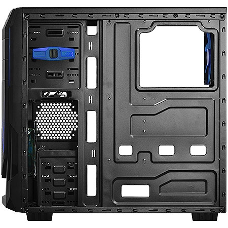 Gabinete Mid Tower Java Azul lateral de acr�lico JAVAPTOAZ2FCA 23584 - Pcyes
