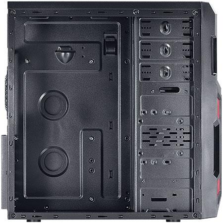 Gabinete Mid Tower Typhoon VX Gamer Preto/Vermelho Lateral em Acrílico 22604 - Vinik