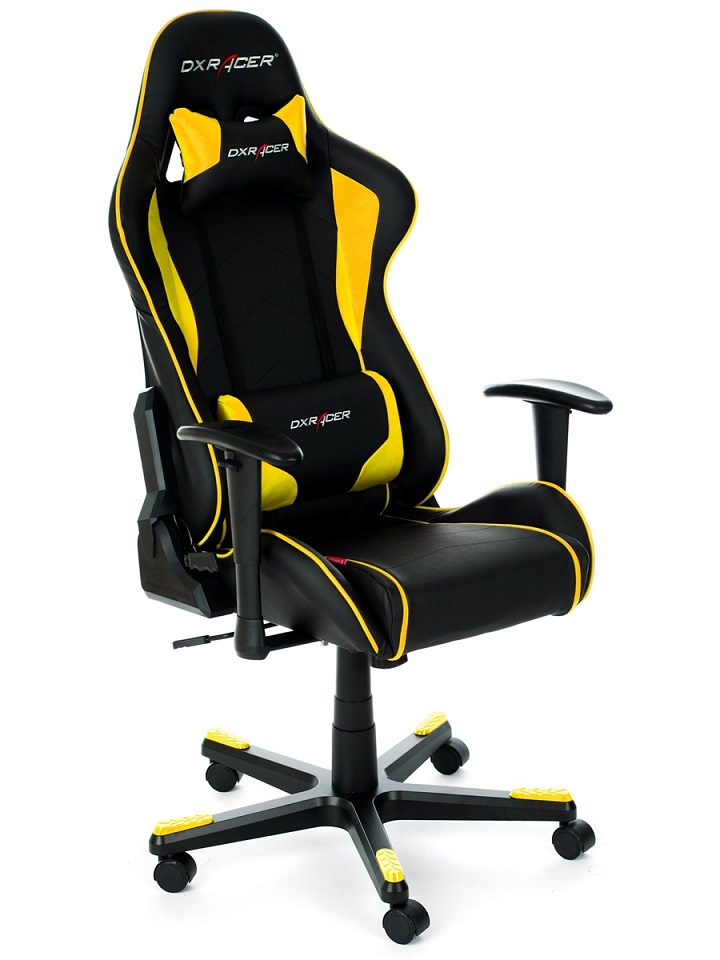 Cadeira F-Series FL08/NY Black/Yellow - DXRacer
