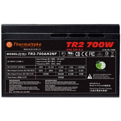 Fonte ATX 700W TT TR2 PSU TR-700CNBZ 80 plus  - Thermaltake