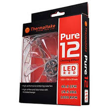 Cooler FAN Pure 12 Transparente LED Red 120mm CL-F019-PL12RE-A - Thermaltake