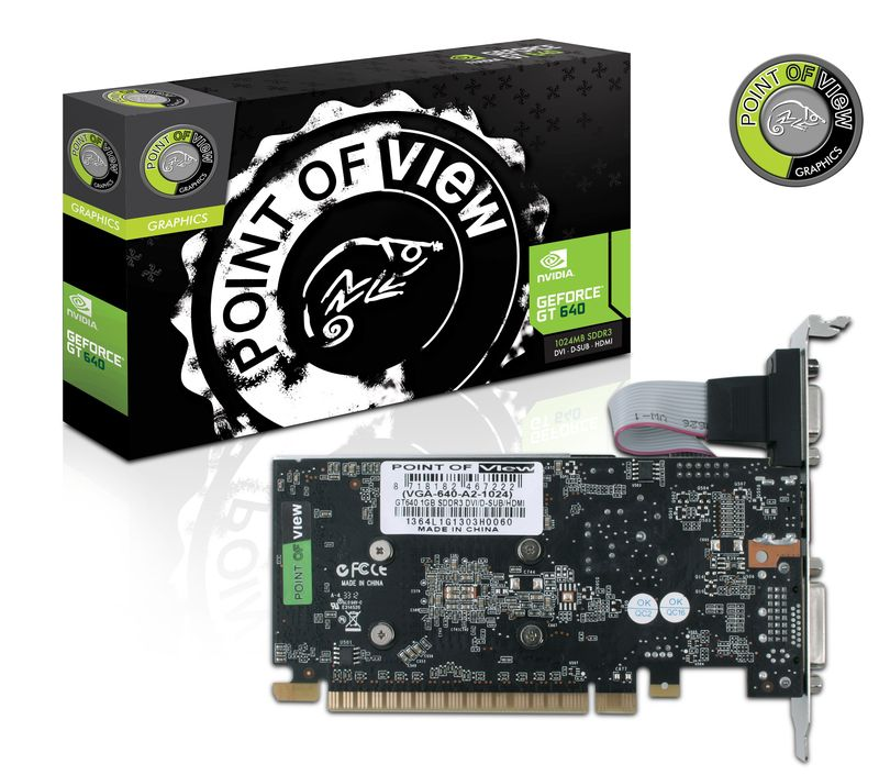 Placa de Video GeForce GT640 1GB DDR3 Low Profile VGA-640-A2-1024 - Point Of View