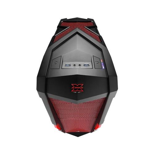 Gabinete ATX Strike-X Xtreme com Led EN52032 Vermelho - Aerocool