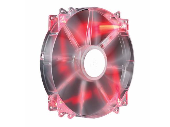 Cooler Para Gabinete R4-LUS-07AR-GP Megaflow 200 X 200 X 30 MM Led Vermelho - Coolermaster