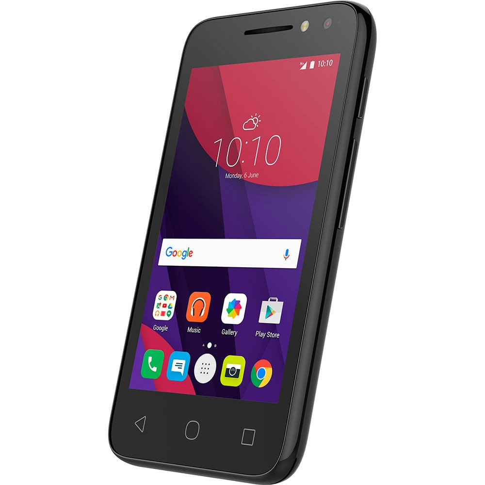 Smartphone Pixi 4 4034E, Quad Core, Android 6.0, Tela 4, 8GB, 8MP, 3G, Dual Chip, Metalic - Alcatel