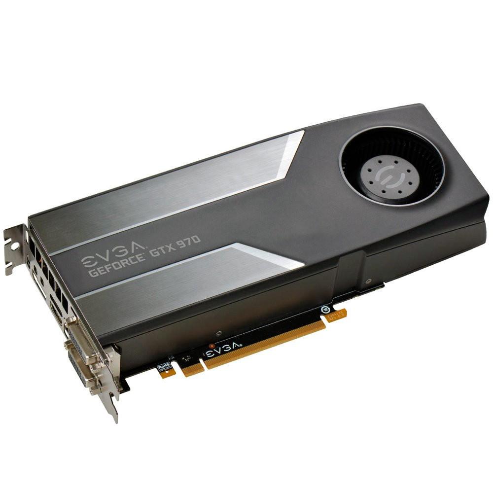 Placa de Vídeo Nvidia GTX970 4GB SC DDR5 256Bits 04G-P4-1972-KT - EVGA