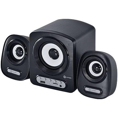 Caixa de Som 2.1 6W com USB/SD e Controle Remoto VS216 Preto - VINIK