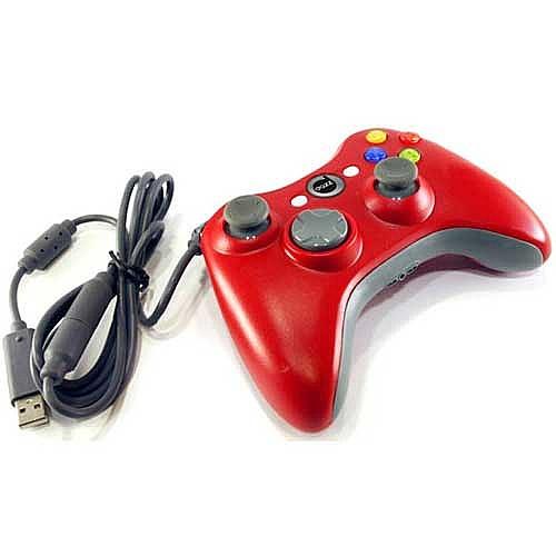 Joystick com fio para XBOX 360 Rubber pad Vermelho 18934 - Dazz
