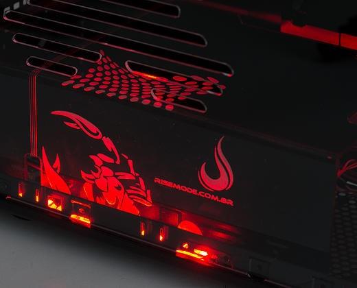 Cover PSU Scorpion Fire (LED Vermelho) RM-CP-02-FIRE - Risemode