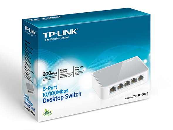 Switch 5 Portas 10/100 Mbps TL-SF1005D - Tplink
