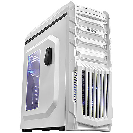 Gabinete Mid Tower New Tiger Branco com Led Azul TIGERBCOAZ2FCA 19663 - PCYES