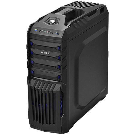 Gabinete Mid Tower New Tiger Preto com Led Azul TIGERPTOAZ2FCA 19662 - PCYES