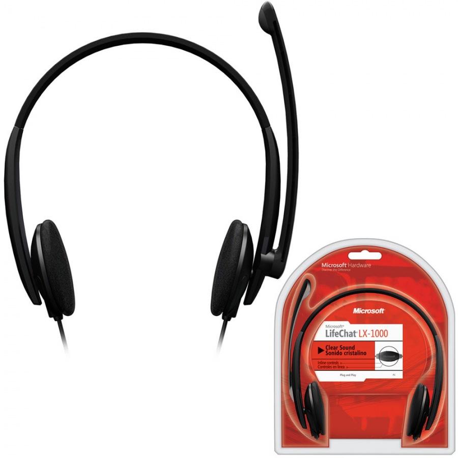 Headset LifeChat LX-1000 Preto - Microsoft