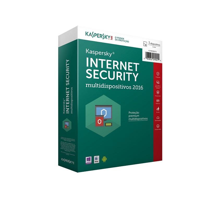 Kaspersky Internet Security 2016 - Multidispositivos - 03 DISPOSITIVOS - 01 ANO (Vers�o para Download)