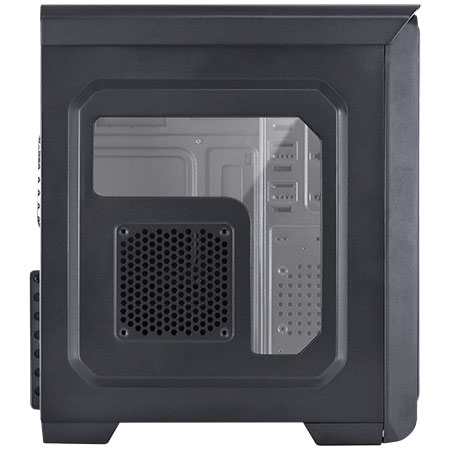 Gabinete Mid Tower Hunter lateral de acrílico c/Led Azul 24869 - Vinik