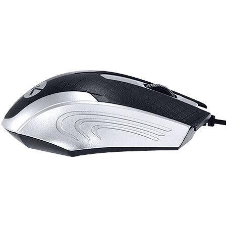 Mouse Optico USB MB71 1200DPI Preto/Prata - Vinik