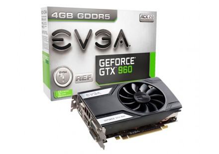 Placa de Vídeo GeForce GTX 960 4GB DDR5 128 bits ACX 2.0 04G-P4-1961-KR - EVGA